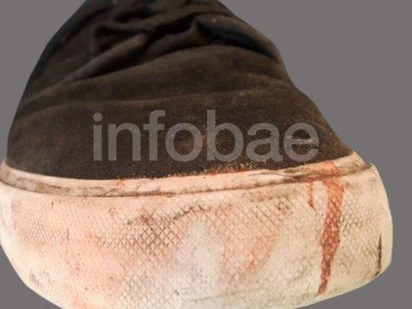 La zapatilla de Thomsen que fue peritada por la PFA.