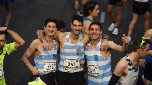 Tres representantes del club Ciudad de Buenos Aires