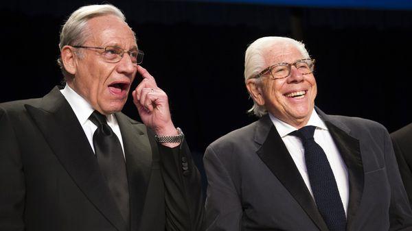 Bob Woodward y Carl Bernstein, periodistas protagonistas de la investigación Watergate(AP)