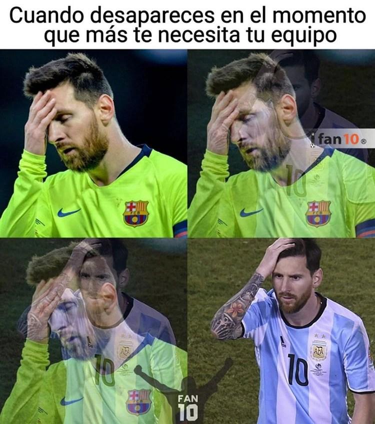 El momento en que el Messi del Barcelona se transforma en el Messi de la Selección