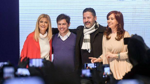 Verónica Magario, Axel Kicillof, Gustavo Menéndez y Cristina Fernández de Kirchner (Foto: Raúl Ferrari / Telam)