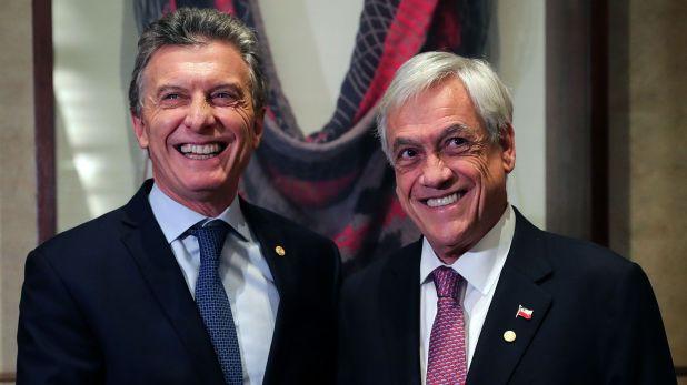 Los presidentes de Argentina, Mauricio Macri, y de Chile, Sebastián Piñera.