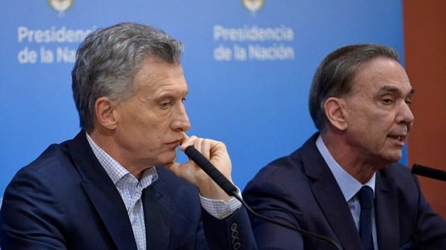 Mauricio Macri y MIguel Ángel Pichetto, fórmula presidencial de Juntos por el Cambio. (Gustavo Gavotti)