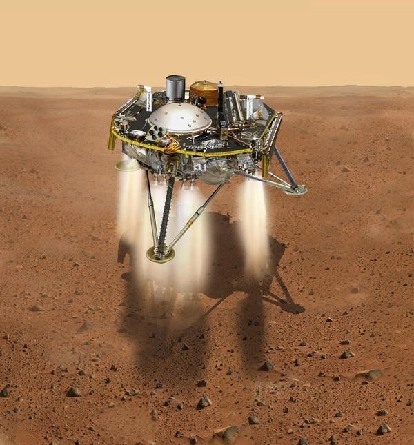 Si todo sale bien, la sonda entrará en la atmósfera marciana sin desintegrarse