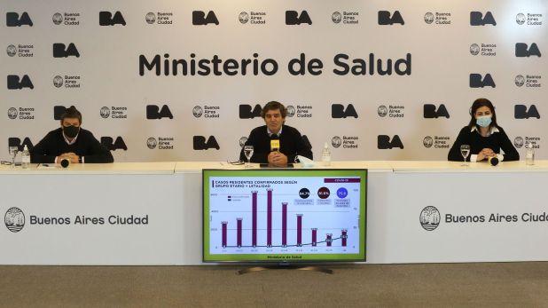 Conferencia Fernan Quiros ministro salud porteño 6 de julio