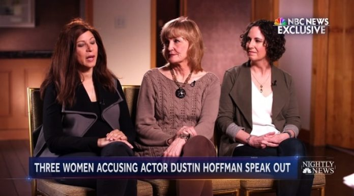 Las tres mujeres que acusaron a Hoffman: Cori Thomas, Kathryn Rossetter y Anna Graham Hunter