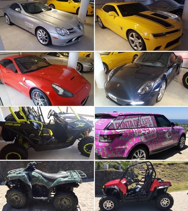 Los vehículos que Balcedo tenía en su poder