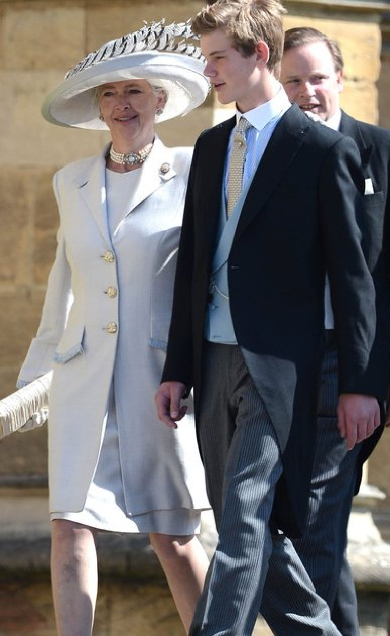 Tiggy Legge-Bourke at Harry and Meghan Markle's wedding in 2018