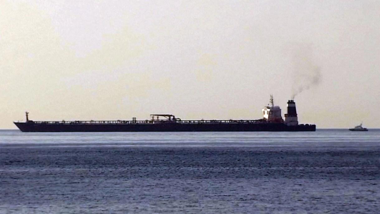 El buque petrolero iraní que fue interceptado por Reino Unido en Gibraltar. (AP)
