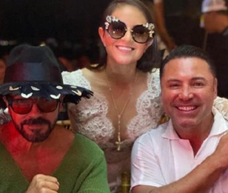The boxer Oscar de la Hoya, with the girlfriend, Odalis Gómez (Photo: Instagram @odalisgomezmillar)