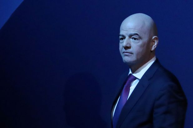 Gianni Infantino, presidente de la FIFA (REUTERS/Yves Herman/File Photo)