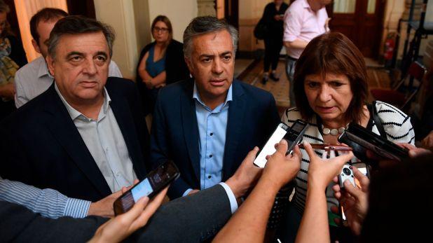 Los dirigentes de Juntos por el Cambio formularon un pedido formal de reunión con el presidente Alberto Fernández. (Maximiliano Luna)