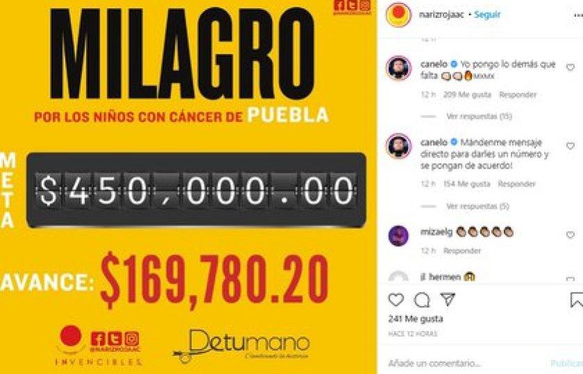 L'athlète de Jalisco a écrit dans les commentaires de cette publication que l'association avait partagé avec ses plus de 20000 followers pour faire une collection (Photo: Instagram @narizrojaac)
