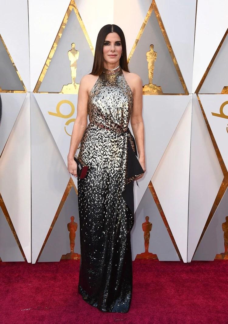 Sandra Bullock en la entrega de los Premios Oscar, 2018 (Photo by Jordan Strauss/Invision/AP)