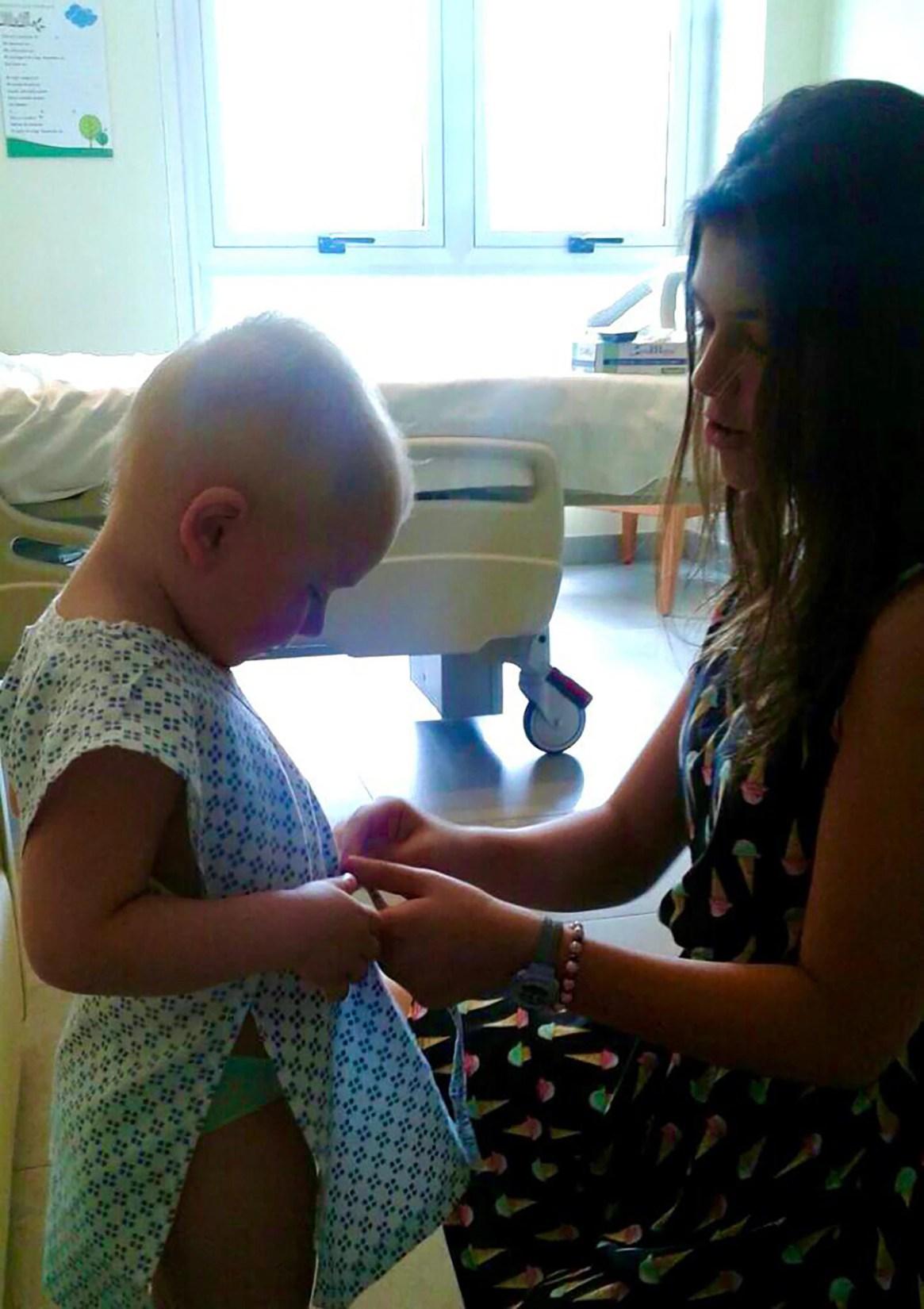 Luego de pasar tanto tiempo internado, la rutina de todos los días de la familia pasó a ser mayormente en el hospital