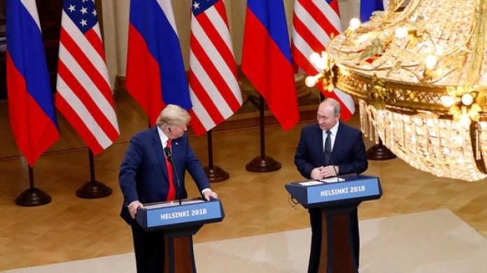 La conferencia de prensa de Trump y Putin tras el encuentro en Helsinki (REUTERS/Leonhard Foeger)