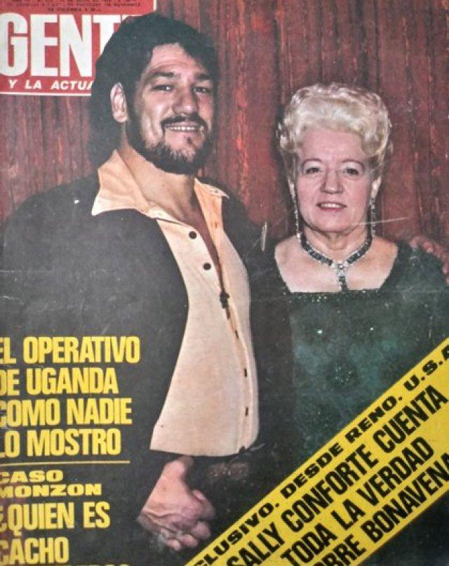 La foto de Bonavena y Sally en la tapa de la Revista Gente tras el crimen
