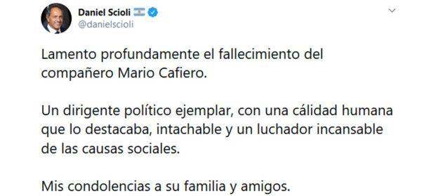Despedida de Politicos a Mario Cafiero