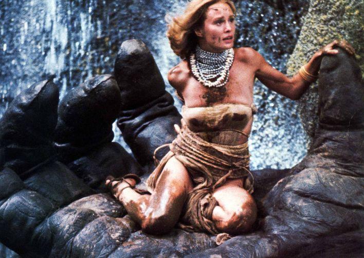 """Jessica Lange en el film """"King Kong"""" (Crédito: Shutterstock)"""