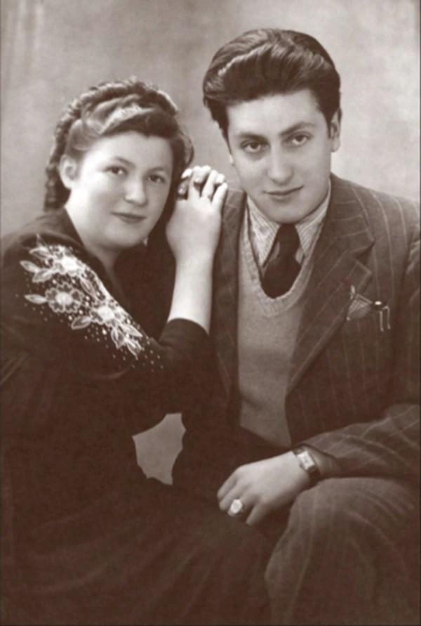 Paula y klaus Stern tras la liberación en Fuerth, septiembre de 1946