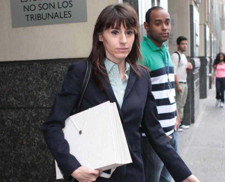 Erin Sayar durante el juicio en Nueva York