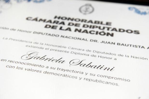 Gabriela Sabatini fue reconocida en la Cámara de Diputados (Maximiliano Vernazza)