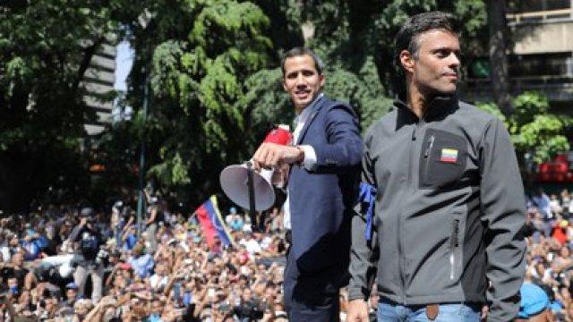 Juan Guaidó y Leopoldo López (Reuters)