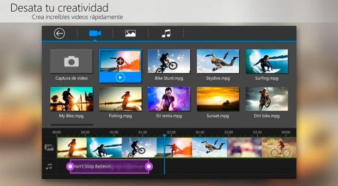 Permite añadir efectos a los videos y cuenta con una variedad de opciones para las transiciones entre clips.