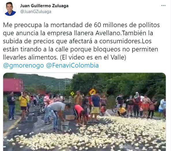 Bloqueos vía Bogotá-Villavicencio