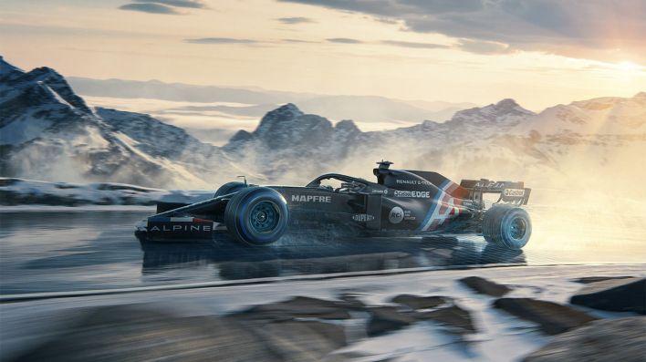 Fernando Alonso Alpine F1 Auto