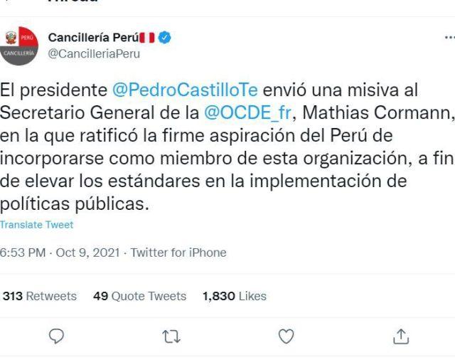Perú y la OCDE