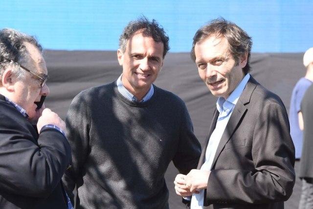 Gustavo Béliz, junto a Gabriel Katopodis (Franco Fafasuli)