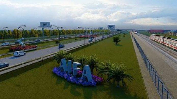 Maqueta del Aeropuerto Internacional Felipe Ángeles (Foto: Gobierno de México)