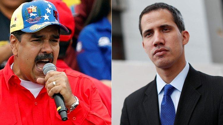El presidente venezolano Nicolás Maduro y el líder opositor Juan Guaidó (Reuters)