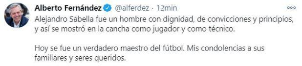 Alberto Fernández Alejandro Sabella