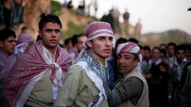 Militantes kurdos en Siria