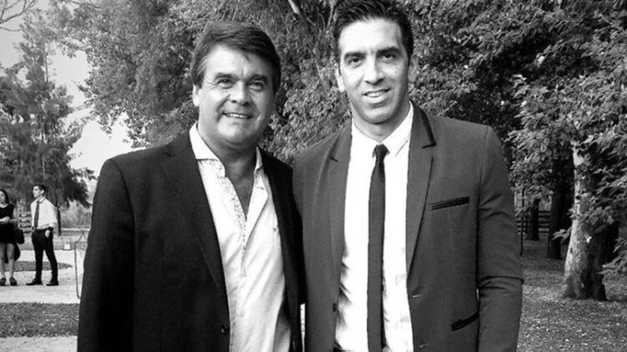 El Tata con Juan Ignacio, uno de sus hijos