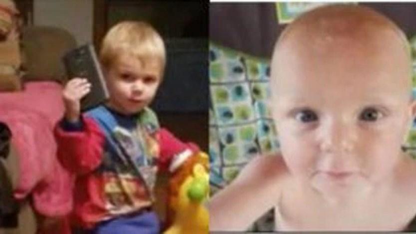 Dos de los cinco niños asesinados.