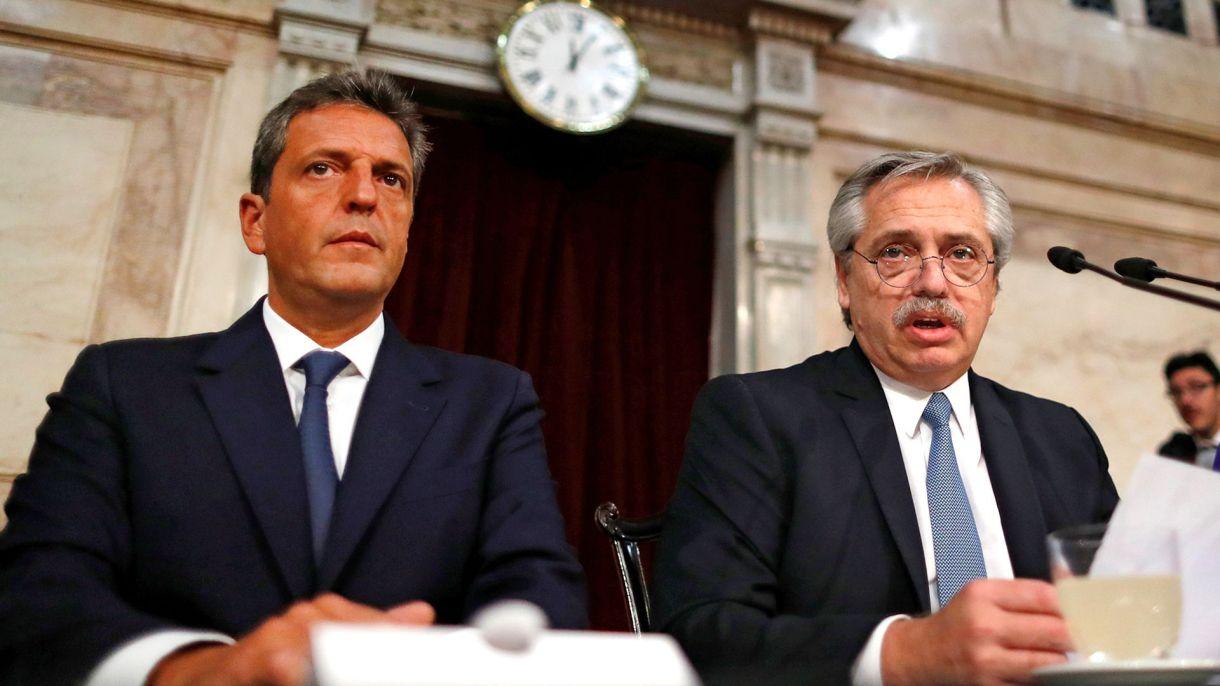 Alberto Fernández y Sergio Massa (Reuters)