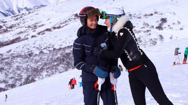 Tiziano junto a su mamá, Valeria Mazza (@valeriamazzaok)