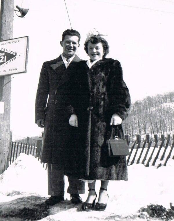 Howard y Nancy Kleinberg durante su Luna de miel en Montreal, en 1950