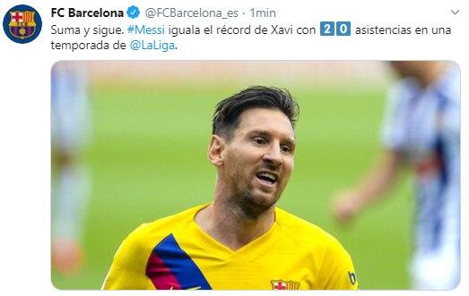 record messi 20 asistencias en liga española