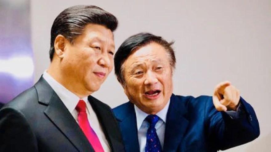 Xi y Ren Zhengfei, presidente de Huawei (PA)