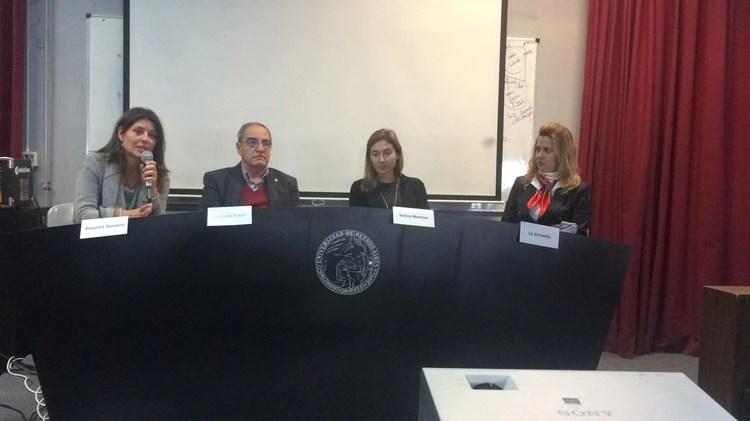 Alejandra Otamendi, Guillermo Simari, María Vanina Martínez y Romina Liz Garmendia durante el evento organizado por SEHLAC y el CEPI