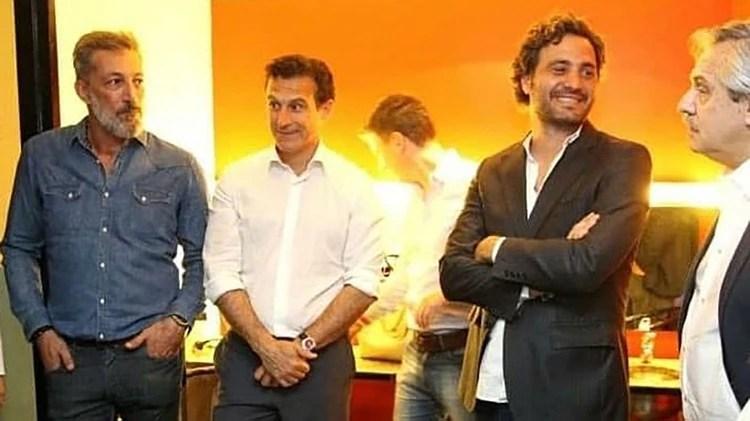 Miguel Cuberos, Guillermo Justo Cháves, Santiago Cafiero y Alberto Fernández