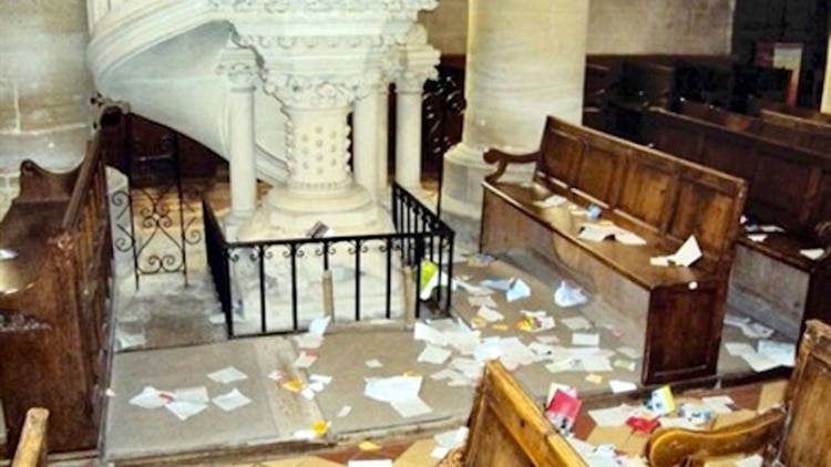 El número de ataques a iglesias continúa alto desde 2016, con un pico en 2017, según elServicio Central de Inteligencia Criminal (SCRC) francés
