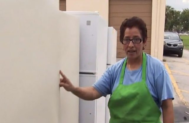 Lilian Argueta encontró el cuerpo de Lacey en el refrigerador que le vendieron, ya que ella y su esposo tienen una empresa de reciclaje (Foto: captura de pantalla NBC)