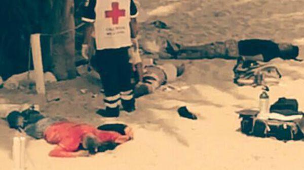 Los servicios de emergencia y los investigadores cercaron la zona (Facebook: Juan Francisco Aviles)