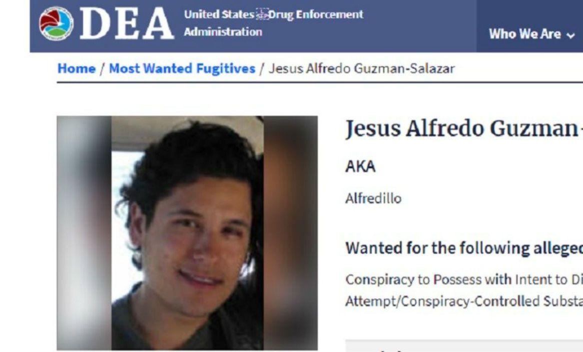 """""""Alfredillo"""" se encuentra prófugo de la justicia estadounidense (Foto: DEA)"""