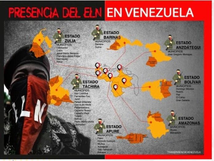 Presencia del ELN en Venezuela